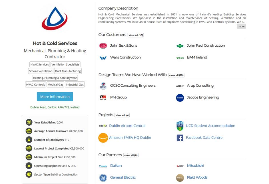Subcontractor Company Profile